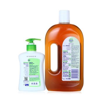 滴露(Dettol)家用清洗空调家具玩具马桶衣物地板杀菌洗衣除菌消毒液750ml加送200g洗手液