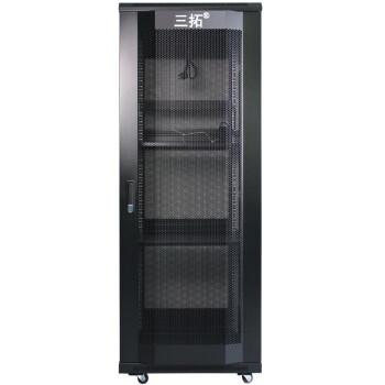 三拓 机柜1米1.2米1.6米1.8米2米18u 22U 32U 42U监控弱电交换机网络服务器机柜 1.6米 32U 宽600深600 T2.6632