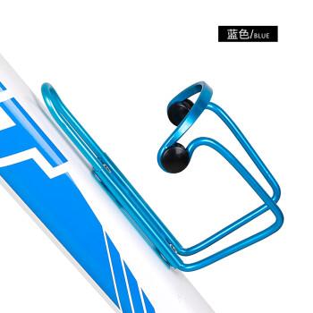 摩托电动自行车茶杯架加粗铝合金带支架水杯架饮料水壶水瓶架 蓝色2号(铝合金款)(+螺丝)(