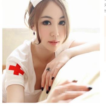 亚洲情色成人贴?_性感成人情趣内衣sm女护士制服激情套装角色扮演大码睡衣夜火9102