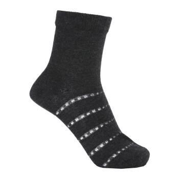 爱慕儿童18SS薄款春季短袜半身洞洞提花袜子男女孩均可穿AK394Y53 深灰色 22