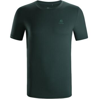 凯乐石(KAILAS)户外运动T恤 男款纯色圆领弹力超薄透气徒步健身训练短袖 KG710483-丛林绿 L