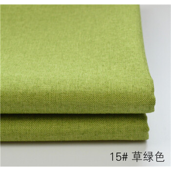 純色加厚帆布仿亞麻布diy沙發海綿飄窗窗臺坐墊抱枕印花布料 草綠色圖片