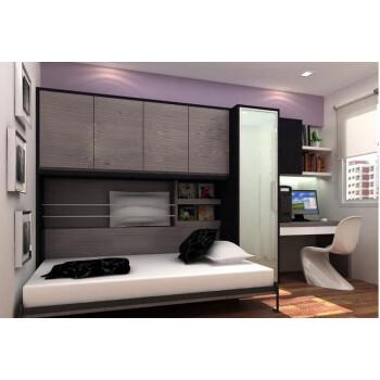 阳台/户外 折叠床 踏雪寻梅 创意家具 隐形床 翻床隐形床衣柜书柜