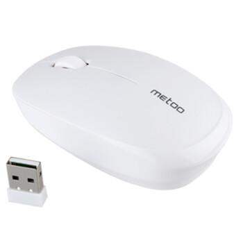 米徒(ME TOO) 米徒E3薄款迷你无线鼠标 可爱休眠笔记本便携灵敏无线鼠标 典雅小巧气质 米徒E3白色