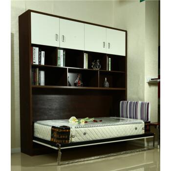 阳台/户外 折叠床 踏雪寻梅 隐形床带书架衣柜组合定做全屋家具挂墙床