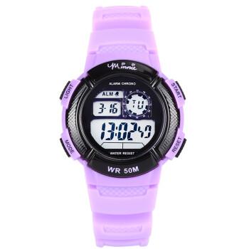 迪士尼 Disney 儿童手表 防水夜光电子表 紫色女孩户外运动表学生手表 MK-15054PL