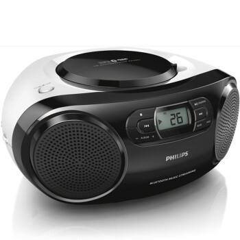 飞利浦(PHILIPS)AZ330T/93 蓝牙音响 CD机 播放机 收录机 学习机 胎教机 教学机 USB播放器 收音机 厂送