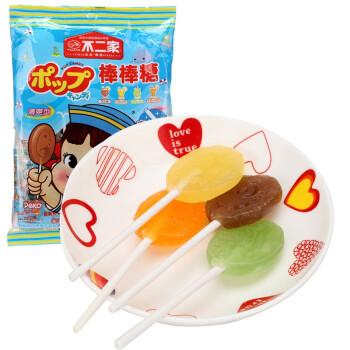 FUJIYA 不二家 清爽型棒棒糖 (可乐味+柠檬soda味+香橙soda味+哈密瓜soda味)125g