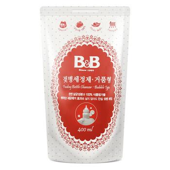 保宁(B&B)婴儿奶瓶清洁剂 韩国进口儿童奶瓶奶嘴洗涤剂 爱护宝宝清洁剂洗奶瓶液(泡沫型-补充装)400ml