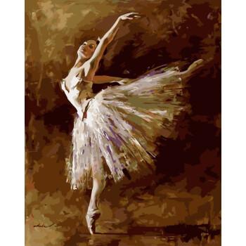 數字油畫油彩畫手繪填色風景客廳大幅裝飾畫40*50盛放玫瑰 芭蕾舞者2