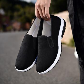 老北京传统布鞋男 方口休闲养生工作鞋 爸爸中老年散步鞋 青年社会鞋 运动底 38