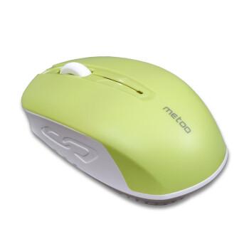 米徒(ME TOO) 无线鼠标2.4G省电男女生笔记本电脑台式机游戏无线鼠标(可爱商务办公便携鼠标) 绿色无线鼠标