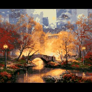 數字油畫diy田園風景油彩填色畫歐式山水手工畫客廳裝飾掛畫手工填色