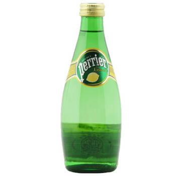 perrier 天然有气矿泉水柠檬味 330ml*24瓶/箱