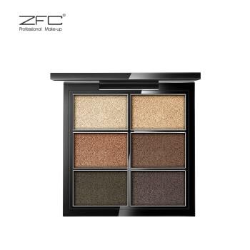 六色盘_zfc fc名师系列 醉心激炫光感眼影 六色眼影裸妆大地色眼影彩妆盘化妆