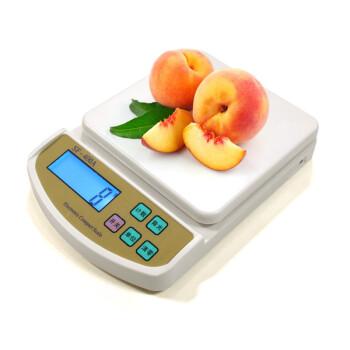迪衡(DH) 插电电子称家用烘焙秤厨房秤0.1g食物台秤10kg精准中药茶叶天平克称烘焙蛋糕秤 厨房秤中文3kg/0.1g
