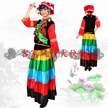 FGHGF新款精品彝族女装/云南民族服装/民族舞蹈演出服装/彝族服装 如图色 M