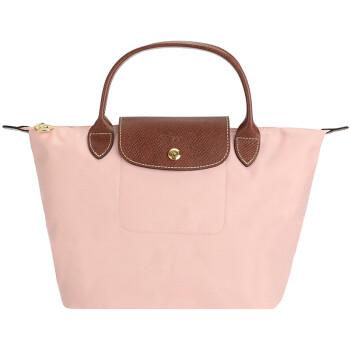 珑骧女士手提包 LONGCHAMP 珑骧Le Pliage 女士系列藕粉色织物小号短柄可 ... 2d6b1087adc64