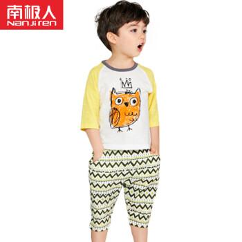 南极人(Nanjiren)【11款可选】南极人儿童夏装套装男女童短袖T恤套装两件套 休憩苹果 130cm