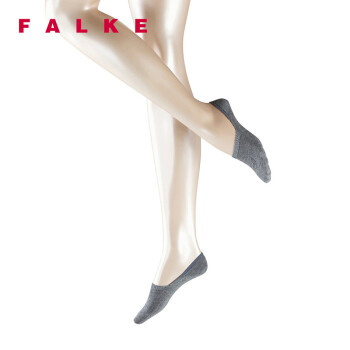 FALKE 德国鹰客 Step 透气休闲隐形高脚面光滑船袜女 灰色greymix 37-38 47577-3399-37