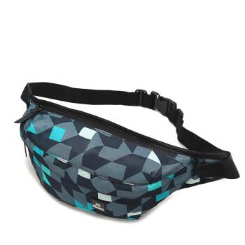 RosDial 新款韩版潮小腰包运动男女胸包休闲包包斜跨男女包骑行包单肩包男士出游包旅行小包 蓝色
