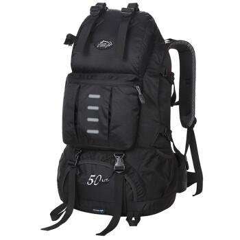 力开力朗(LOCAL LION)442 大容量多功能双肩背包登山包442黑色带防雨罩 50L