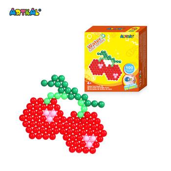 水雾魔珠玩具套装儿童手工diy制作材料包水粘珠拼豆豆