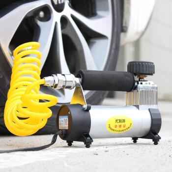 尤利特(UNIT)车载充气泵金属机身12v电动打气泵快速补气带胎压检测线长6米自行车摩托车打气 YD-3035
