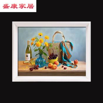 別穎2018新品簡約素描相框全家福照片像框風景油畫框掛墻相框定做十字