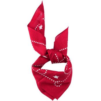 COACH 蔻驰 奢侈品 女士红色印花方巾 F26598 DRD