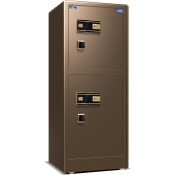 虎牌保险柜 保险箱双门办公大型家用高80/100/120/150保管柜 香槟金-150指纹