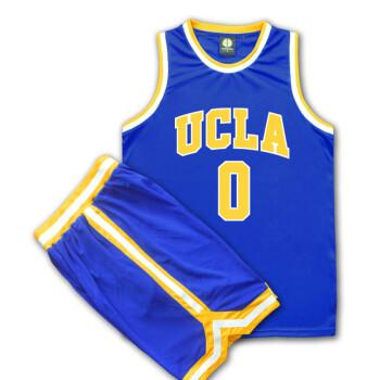 威斯布鲁克球衣2018新款球衣朗佐鲍尔威斯布鲁克篮球服套装篮球队服篮球衣训练服热身 0号威斯布鲁克(蓝色) XXL(180-190)