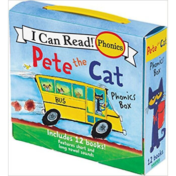 Pete the Cat Phonics Box  Includes 12 Mini-Books 英文原版