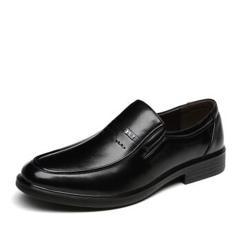 意尔康男鞋牛皮商务休闲舒适男单皮鞋S541AE73153W黑色41