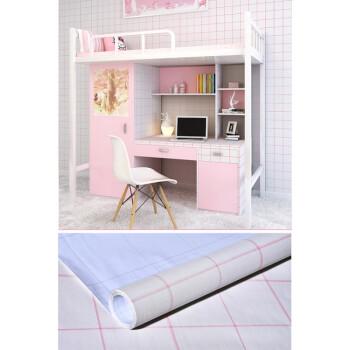 fenseb_自粘墙纸黑白格子卧室客厅简约壁纸大学生宿舍寝室桌子翻新贴纸 b粉色