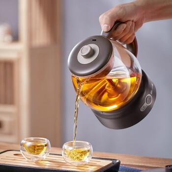 小熊(Bear)煮茶器煮茶壶 养生壶迷你蒸汽喷淋式304不锈钢 电水壶热水壶黑茶煮茶器办公室家用ZCQ-A10T2