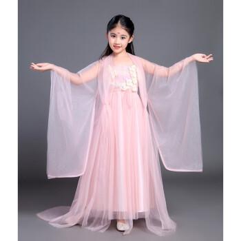 三生三世十里桃花衣服白浅汉服儿童夜华女童古装仙女装演出服 粉色