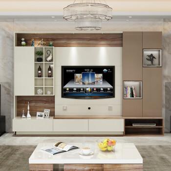 北欧电视柜客厅酒柜影视墙柜电视背景墙柜子书柜组合