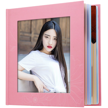 一体式个性冲印照片DIY设计方形八寸洗照片书创意礼品定制相册 照片冲洗 开窗封面20P8X8 8x8英寸