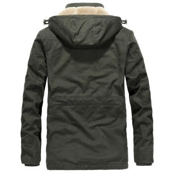 【20评价/95%】男士冬季棉服外套可脱卸内胆 2020新休闲中长款加厚带绒保暖棉衣 LST1507灰色 L