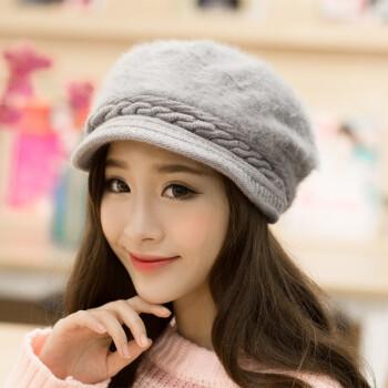 絮悠 帽子女冬季保暖兔毛帽