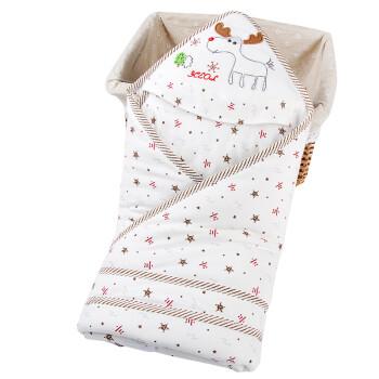 婴儿抱毯品牌_尹珂儿 婴儿抱被春秋纯棉初生婴儿包被0-12个月新生儿抱毯全棉 ...