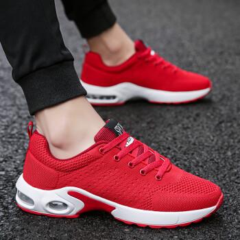 隐形增高8cm男鞋潮流百搭运动鞋新款增高鞋时尚休闲鞋内增高鞋 1713网面红色 42码增高8cm