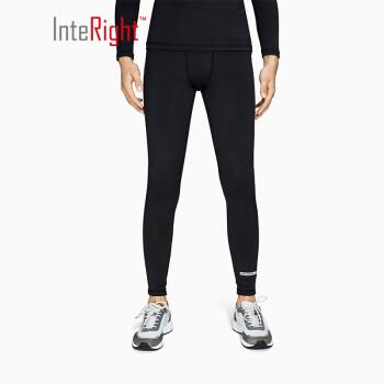 INTERIGHT运动紧身裤男女同款 训练健身瑜伽长裤 黑色 男加厚 M