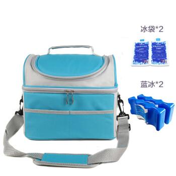 優合(youha)便攜式多功能母乳儲存包冰袋 背奶媽咪包戶外保鮮包帶藍冰 YH-0108/藍色