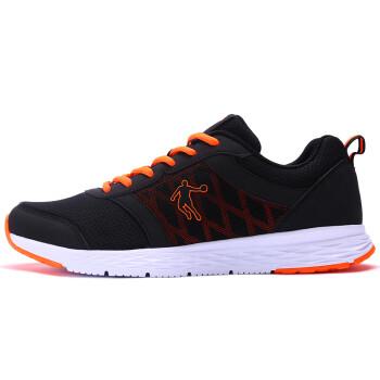 【京东超市】乔丹 男鞋跑步鞋减震轻便运动鞋 XM1560239 黑色/闪亮橘 42