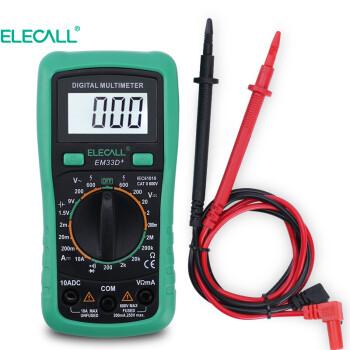 伊莱科 (ELECALL) 万用表 数字数显万能表背光防烧小型袖珍高精度电压表 EM33D+