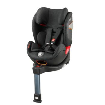 gb好孩子 高速汽车儿童安全座椅 ISOFIX接口 多档调节 适用于0-25KG(约0-7岁)丝绒黑 CONVY-FIX-19CNVBLK