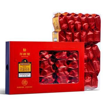 华祥苑茶叶 大红袍武夷岩茶乌龙茶茶叶 礼盒装250g